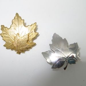 Two Leaf Brooches/Pins